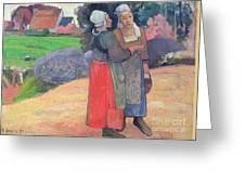 Breton Peasants Greeting Card