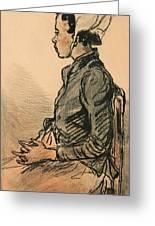 Bretonne Assise Greeting Card