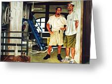Brew Dudes Greeting Card by Gregg Hinlicky