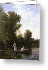 Bricher Boating In The Afternoon Greeting Card