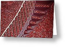 Brick And Stairs Greeting Card