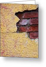 Brick Exposed Greeting Card