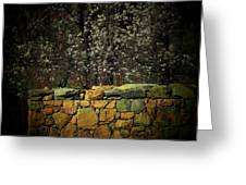 Brick Fence Greeting Card