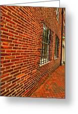 Brick Houses Greeting Card