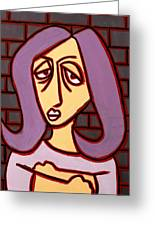 Brick Lady Greeting Card