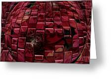 Brick Red Greeting Card