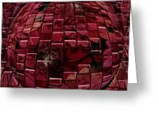 Brick Red Greeting Card