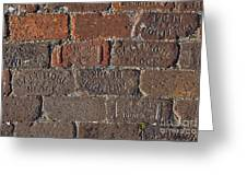 Brick Street Greeting Card