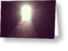 Brick Tunnel  Greeting Card