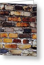 Brick Wall Greeting Card by Tim Good
