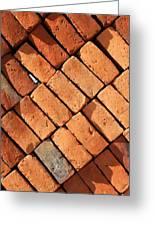 Bricks Made From Adobe Greeting Card
