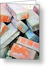 Bricks. Greeting Card