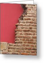 Bricks, Stones, Mortar And Walls - 3 Greeting Card