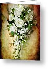 Bridal Bouquet Greeting Card by Meirion Matthias