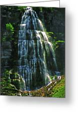 Bridal Veil Falls Canvas 2 Greeting Card