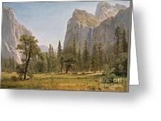 Bridal Veil Falls Yosemite Valley California Greeting Card