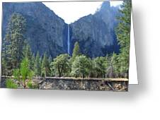 Bridal Veil Yosemite Greeting Card