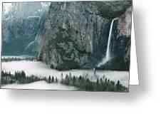 Bridalveil  Falls In Winter Greeting Card