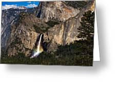 Bridalveil Falls Rainbow #3 Greeting Card