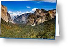 Bridalveil Falls Rainbow Greeting Card