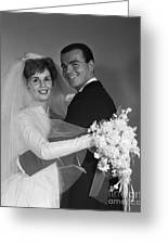 Bride And Groom, C.1960s Greeting Card