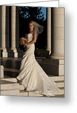 Bride In A Park Greeting Card