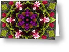 Bride's Maids Boquet Kaleidoscope Greeting Card