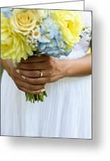 Brides Wedding Ring Greeting Card
