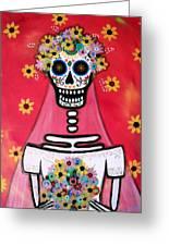 Bridezilla Dia De Los Muertos Greeting Card