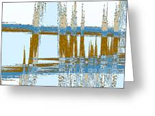 Bridge Abstract Greeting Card