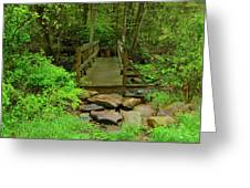 Bridge Across A River Is Part Of The Pa At Greeting Card