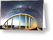 Bridge Across The Galaxy Greeting Card