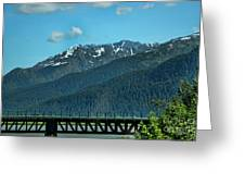 Bridge Alaska Rail  Greeting Card