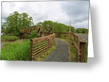 Bridge Along Lewis And Clark Hiking Trail  Greeting Card