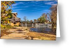 Bridge And Creek In The Fall Greeting Card