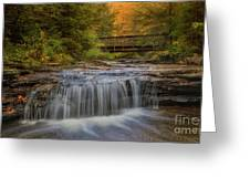 Bridge And Falls Greeting Card