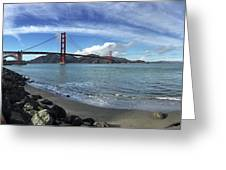 Bridge And Sea Greeting Card