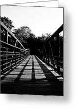 Bridge And Tunnel - B/w Greeting Card