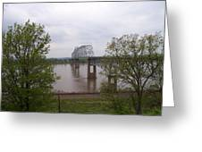 Bridge At Chester, Il Greeting Card