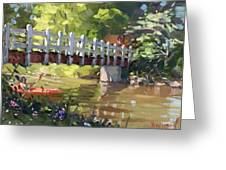 Bridge At Ellicott Creek Park Greeting Card