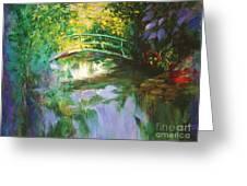 Bridge At Giverny Greeting Card