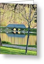 Bridge At Island Park Greeting Card