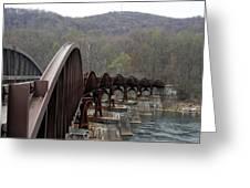 Bridge At Ohiopyle Pennsylvania Greeting Card