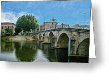 Bridge At Quissac - P4a16005 Greeting Card