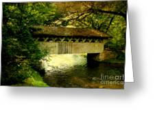 Bridge At Red Mill Greeting Card