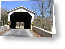 Bridge At The Mill. Greeting Card