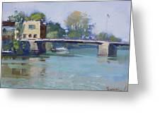 Bridge At Tonawanda Canal Greeting Card