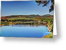Bridge At Wolf Creek Greeting Card