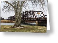 Bridge By The Tree Greeting Card