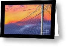 Bridge Detail At Sunrise Greeting Card